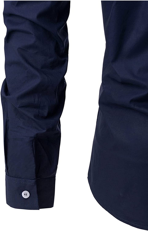 Men's Henley Shirt, Men Cotton Shirts V-Neck Long Sleeve Beach Basic Tshirt Lightweight Shirt Banded Collar Tops