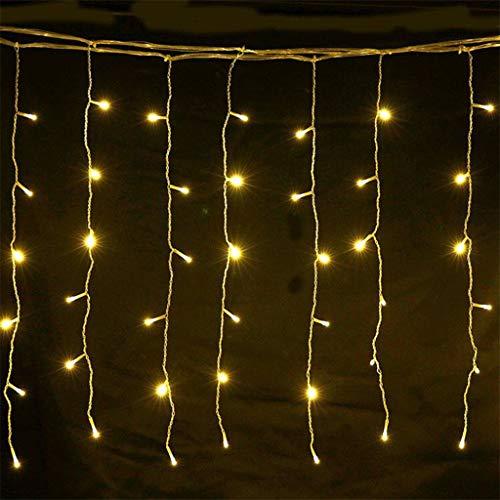 Luccase LED Vorhang Lichte 4 Meter 8 Beleuchtungsmodi LED Fenster Vorhang Lichtschlauch Lampe Lichterketten Hochzeit Ornamente Zuhause Dekor