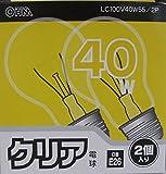 クリア電球40W形2PLC100V38W2PA