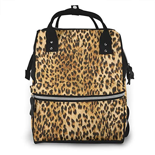 Cyloten Diaper Bag Leopard Animal Print Mummy Backpack Waterproof Large Capacity Mummy Nappy Bags 3D Printed Durable Baby Travel Bag Multi-Use Picnic Bag Insuated Backpack 11.1x 7x15.7 Inch