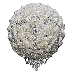 Ivory Tassel Diamond Brooch Bride Wedding Bouquet