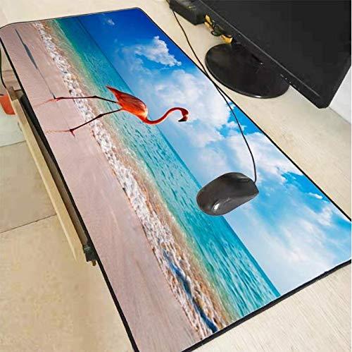 Grote gaming flamingo strand dieren lock Edge muismat mat voor muismat game gamer muismat pc bureau pad 30 * 80 cm