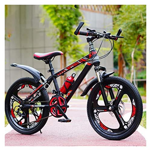 OFFA Boys Mountain Bikes, Bambini Bici 20 22 Ruote da 24 Pollici 21-velocità Smorzamento Variabile Mountain Bicycle per 6-15 Anni, Ragazzi Ragazze Regali di Compleanno (Color : Red, Size : 24 Inches)