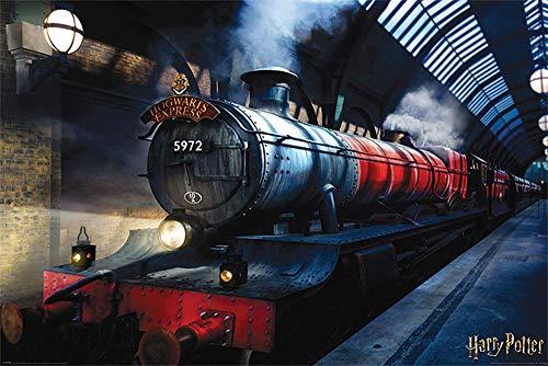 "Tainsi - Póster de Harry Potter con texto en inglés ""Poudlard Express"", 28 x 43 cm"