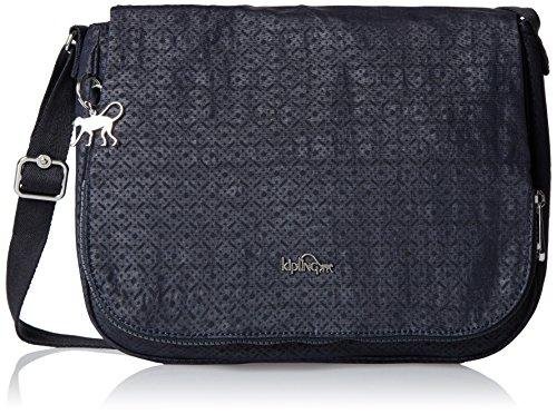 Kipling Earthbeat M, Damen Umhängetasche, Black (Basket Shimmer), 30x22.5x10.5 cm (W x H x L)