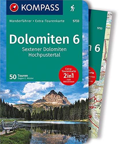 WF5733 Dolomiten 6 Sextener Dolomiten, Hochpustertal Kompass: Wandelgids met overzichtskaart