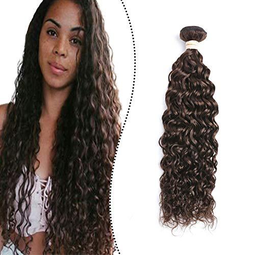 Ugeat Natural Wave Haartressen Echthaar zum Einnahen Dunkelstes Braun #2 70cm Weave on Human Hair Extensions Weft Remi 100G