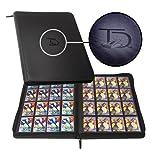 TopDeck 1000 Card Portfolio   16 Pocket Trading Cards Album   Long Term Storage Binder  Side Load Sleeves   Pokemon/MTG/Yugioh/TCG Folder   Trading & Sports Holder   TCG Binder (Black)