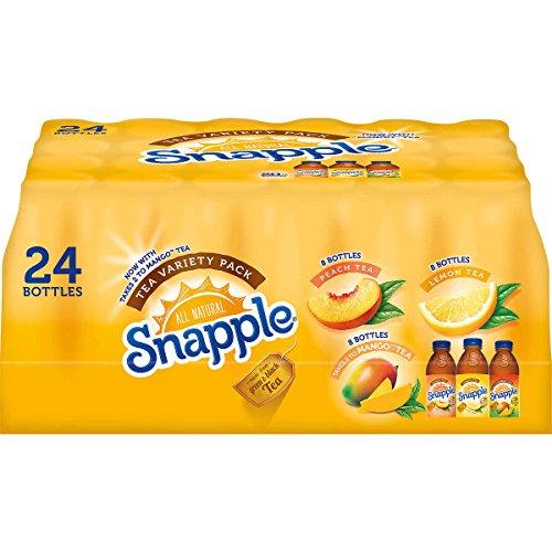 Snapple Variety Pack, Three Yummy Flavors 24 Pack - 20 Fl Oz