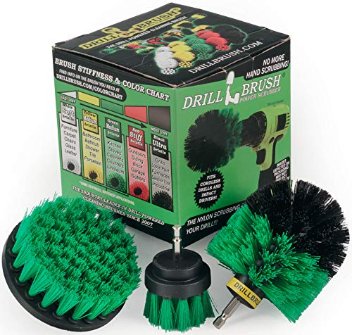Drillbrush Green Kitchen Cleaning Drill Brushes -...