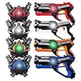 HISTOYE Large Laser Tag Sets with Gun and Vest Laser Tag Guns Toys for Kids Adults Indoor Outdoor Lazer Tag Best Gift for 4 5 6 7 8 9 10 11 12+ Year Old Boys Girls (4 Packs)