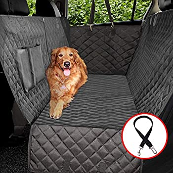 Vailge Dog Car Seat Covers 100% Waterproof Scratch Proof Nonslip Dog Seat Cover 600D Heavy Duty seat Cover for Dogs Dog car Hammock Pet Seat Cover for Back Seat car Trucks SUV