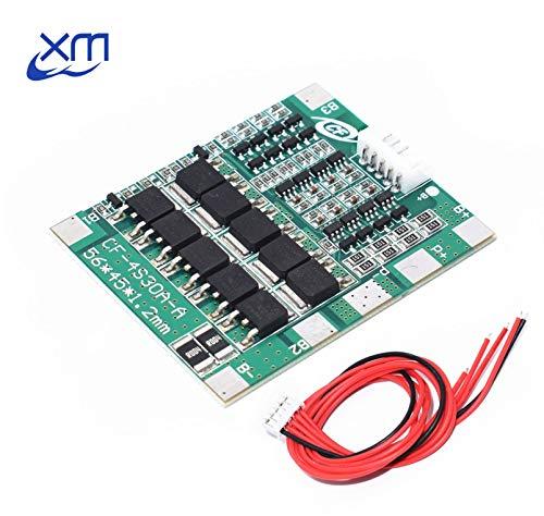 4S 30A 14,8 V Li-Ion Lithium 18650 Batterie BMS Packs PCB Schutz Bord Balance Integrierte Schaltungen 45x56mm Elektronische Platine