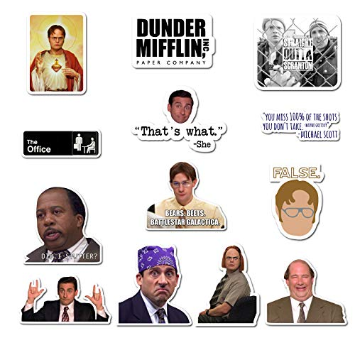 The Office Sticker Pack of 20 Stickers- The Office Stickers for Laptops Dunder Mifflin Stickers The Office Merchandise Laptop Stickers for Laptops Computers Hydro Flasks Water Bottles