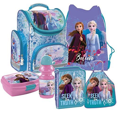 Disney Frozen Eiskönigin Schulranzen Tornister Schulrucksack Schultasche Set 6 Teilig Inkl. Sticker Von Kids4shop