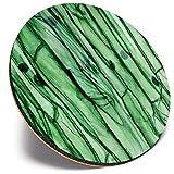 Posavasos redondo único – microscopio de células vegetales   Posavasos de calidad brillante   Protección de mesa para cualquier tipo de mesa #46134
