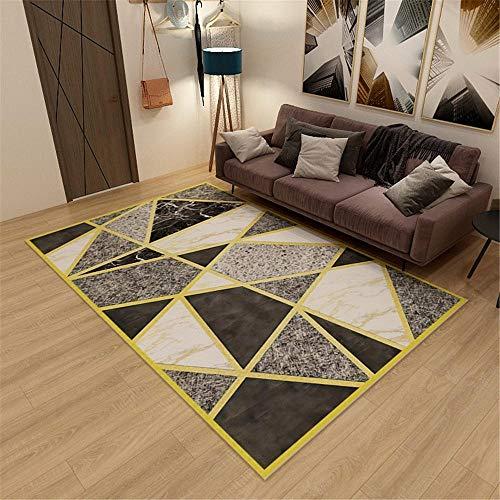 Kunsen Alfombra Silla Gaming alfombras Lavables Salon Dormitorio Rectangular Alfombra Gris Agua Sucia Se Lava Protector Suelo Silla Ruedas 180X280CM 5ft 10.9' X9ft 2.2'