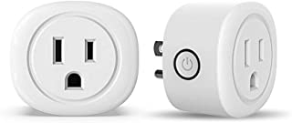 JUANWE Smart Plug 2 Pack Mini WiFi Smart Outlet Compatible with Alexa Echo Google Home TFTTT Voice Control APP Remote Control Your Home Appliances, Timer, No Hub Required, FCC CE Certificated, White