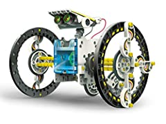 14 in 1 different Robots that can operate on land water! This solar powered robotic kit can be built into 14 different Robots, powered by the sun! Future engineers will have endless fun building, rebuilding, and learning about solar power. Solarbot. ...