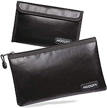 "Hodufy Fireproof Money Bag, 10.6""x6.7"" Fireproof and Waterproof Cash Bag, 5"" x 8"" Small Fireproof Bag, Fireproof Bank Bag,..."