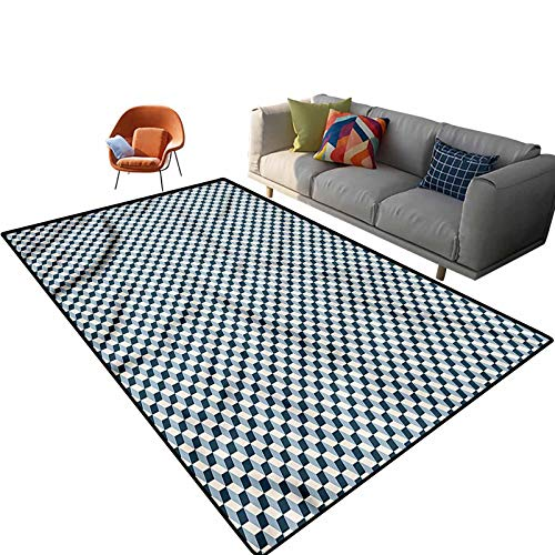 Indoor Room Geometric Area Rugs,3'x 5',Stacked Cubes Pattern Floor Rectangle Rug with Non Slip Backing for Entryway Living Room Bedroom Kids Nursery Sofa Home Decor