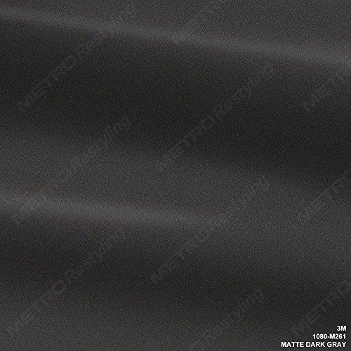 3M 1080 M261 Matte Dark Gray 60in x 24in (10 Sq/ft) Car Wrap Vinyl Film