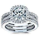 Best Kobelli Moissanite Wedding Rings - Kobelli Cushion Brilliant Moissanite Halo Bridal Wedding Rings Review