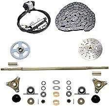 WPHMOTO Rear Axle Assembly Complete Wheel Hub Kit & Brake Assembly & 116 Links T8F Chain for Go Kart Quad Trike Drift Bikes