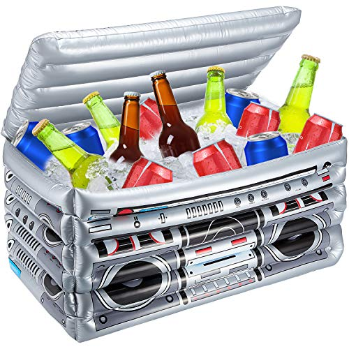 Inflatable Boom Box Cooler, Inflatable Drink Coolers Floating Pool Cooler Inflatable Bar Beverage Cooler for Parties Summer Beach Buffet (1 Piece)