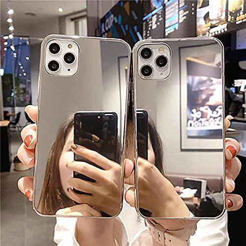 LXIAOWEI Caja del Teléfono del Espejo (2pcs), para iPhone X/XS, XR, XSMAX, 2 Películas Templadas, Anti-Polvo, Firme, TPU, Delicado, Impermeable, Materiales De Calidad Fun X/XS