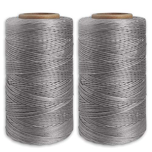 Yullymerry レザークラフト 糸 手縫い糸 直径0.8mm 蝋引き糸 (260m × 2本, 142)