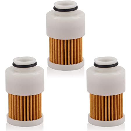 HIFROM Fuel Filter Replacement for 4 Stroke Yamaha Mercury Outboard Motor 50HP 60HP 75HP 90HP 115HP Engines 68V-24563-00-00 881540 18-7979 (Pakc of 3)