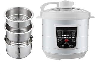 5L Inteligente Sin Azúcar para Cocinar Olla Arroceras con Funciones Multicooker 6, Pantalla LED Y El Nombramiento 24H para 3-7 Personas,A