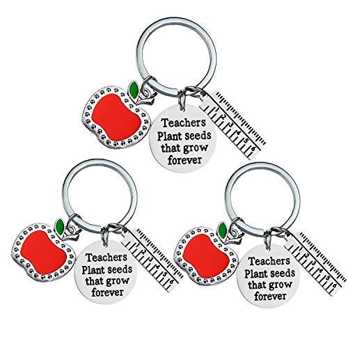 """Bespmosp Schlüsselanhänger mit Aufschrift """"Teacher Appreciation"""", für Lehrertag, Geburtstag, Abschluss, Dankeschön, Schmuck für beste Freundin"""
