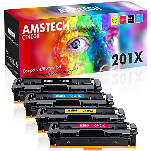 Amstech Kompatibel Toner Cartridge Replacement für HP 201X HP 201A CF400X CF400A CF401X CF402X CF403X für HP Color Laserjet Pro MFP M277dw Toner HP M252dw Toner HP Laserjet Pro MFP M277 dw M277n M274n