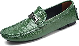 Men's Driving Shoes Formal Shoes Microfiber Spring & Summer/Fall & Winter Business/Casual Loafers & Slip-Ons Breathable B,Green,UK9.5/CN45