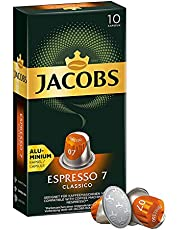 Jacobs Espresso 7 Classico - Nespresso®* Compatible Aluminium Coffee Capsules - Pack of 10 Capsules (10 Drinks)