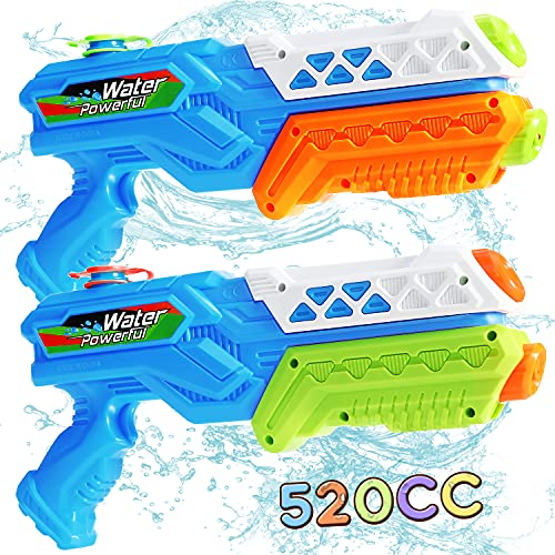 RACPNEL 2 Pack Water Guns for Kids,Super Squirt Guns Water Blaster for Adults Children, Summer Outdoor Toy for Boys Girls, Beach Swimming Pool Water Toy Party Favor