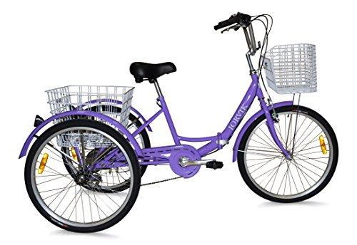 Jorvik 24 Voyage en Tricycle Pliant en Aluminium  (Purple)