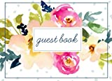 Guest Book (108 Pages) Floral Cover: Birthday, Bridal Shower, Wedding, Baby Shower And Anniversary: Single-Sided Sign-In Guestbook Perfect For ... Home, Retirement, Funeral Or Memorial Service