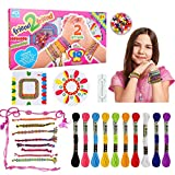 Friendship Bracelet for Kids Girls, Kids Bracelets Bead Kit Craft Toy Gift for 5 6 7 8 9 10Years Olds Girl Charm Bead Making Kit Girls Birthday Present for 3-8 Year Old Kids Girls Bracelet Making Kits