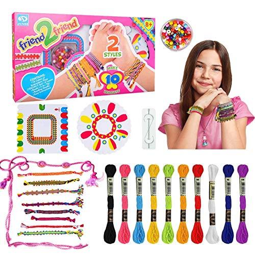 Creen Kit de Fabricación de Pulseras de la Amistad para Niñas de 6 7 8 9 10 Años Regalos de Manualidades para Niñas de 8 9 10 11 12 Pulsera Artesanal de Bricolaje Regalo de Juguete de 6 a 11 Años