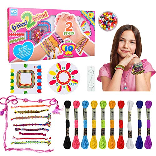 Friendship Bracelet Making Kit for 6 7 8 9 10 Year Old Girl Kids, Arts and...