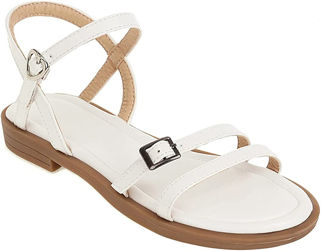 MIOKE Women's Casual Slip On Wedge Slide Sandals Open Toe Suede Summer Platform Chunky Mid Heel Sandal