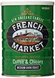 French Market Coffee, Coffee and Chicory, Decaffeinated Medium-Dark Roast Ground Coffee, 12 Ounce Metal Can
