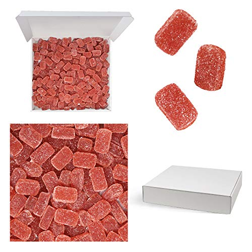 Bulk Gourmet Emporium - Caja a granel de paté de frutas de fresa, producto vegetariano, halal y sin envase de plástico, 1 kg