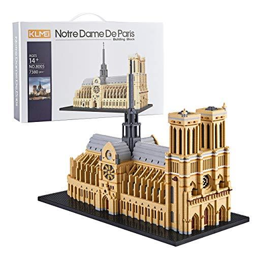 KLMEi 7380 Piezas Notre Dame De Paris Modelo Building Set Micro Block 2020 Nuevo Artículo (con Caja de Paquete Origen y Herramienta Útil)