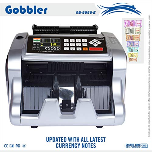 GOBBLER 8888-E Mix Note Value Counting Business-Grade Machine Fully Automatic with Fake Note Detection