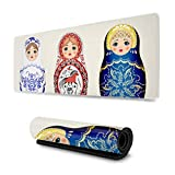 OKIJH Alfombrilla de ratón Set of Russian Nesting Dolls Girly Mouse Pad 31.5x11.8 Inch Wide & Long Simple Mouse Pad for Computer/Laptop