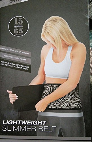TKO Light Weight Slimmer Belt- Onyx + Zebra